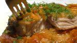 Запеченный карп с овощами