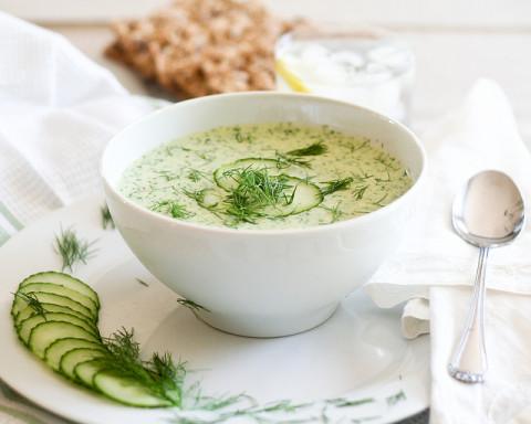 как приготовить холодный суп из огурцов