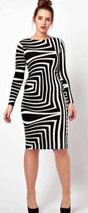 геометрический узор на платье