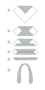 складывание шейного платка