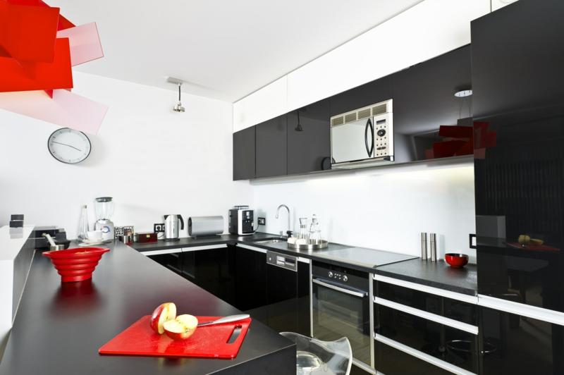 дизайн кухни черно белом стиле