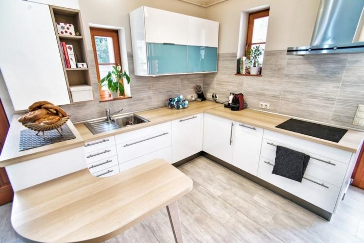 Кухонные столешницы из светлой древесины