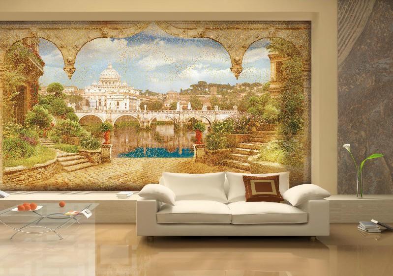 роспись стен в интерьере фото