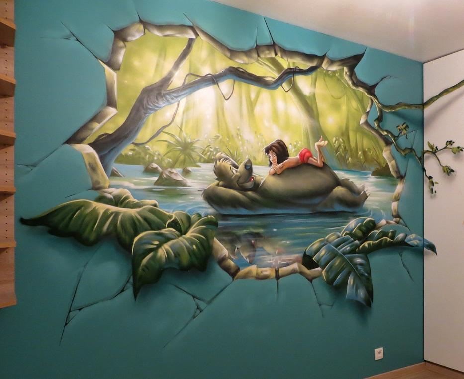 настенная роспись в интерьере