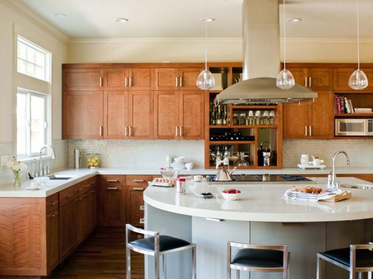 Винный шкаф разделяющий кухню