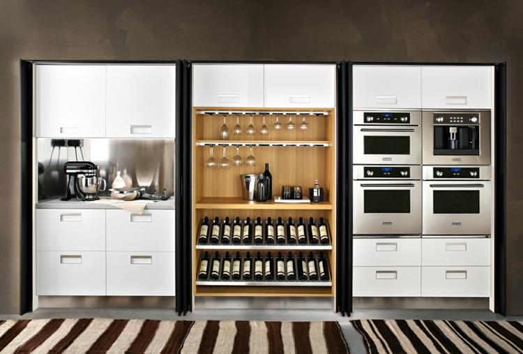 Профессиональная кухня с винной стойкой