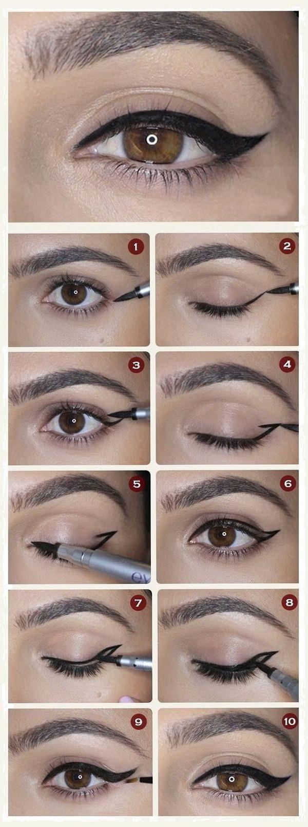 Как правильно и ровно рисовать стрелки на глазах: пошаговое 73