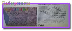 Ажурное вязание спицами с описанием