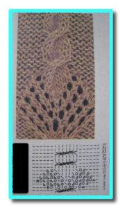 Ажурное вязание спицами со схемами