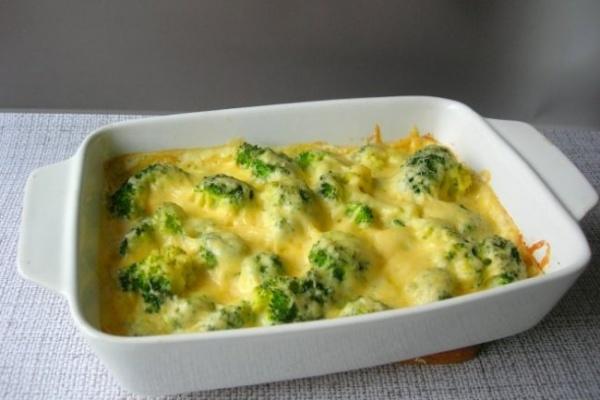 Запеканка с брокколи под сыром — вкусный рецепт