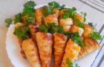Пирожки-трубочки из слоеного теста «Морковки» — вкусный рецепт