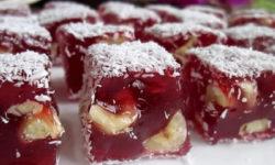 Домашний рахат-лукум с орехами — рецепт приготовления